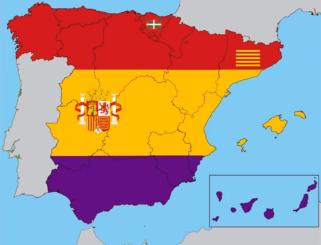 Mapa autonomias II Republica