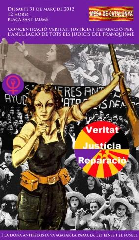 Cartell vint-i-vuitena concentració Mesa Catalunya